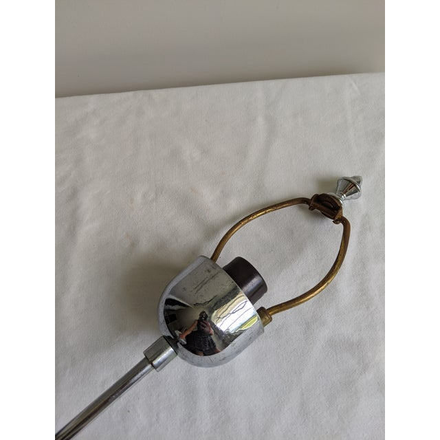 1980s Postmodern Sonneman Style Polished Chrome Table Lamp For Sale - Image 9 of 11