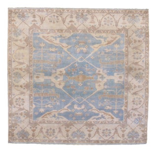 Pasargad N Y Oushak Wool Rug - 8′8″ × 9′9″ For Sale
