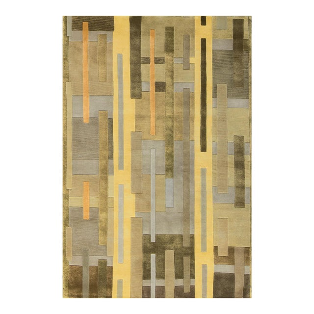 Contemporary Hand Woven Rug - 4'10 X 7'9 For Sale