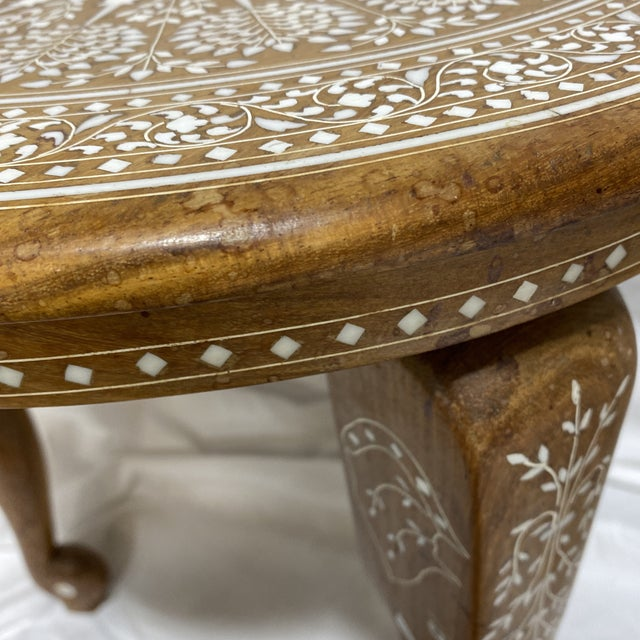 Anglo Indian Bone Inlay Side Tables - a Pair For Sale - Image 9 of 13
