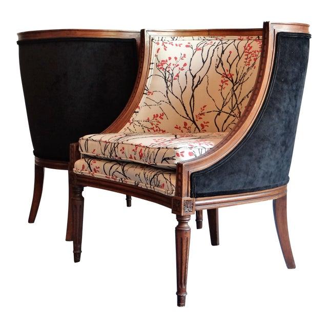 Louis XVI Barrel Chair - A Pair - Image 1 of 8