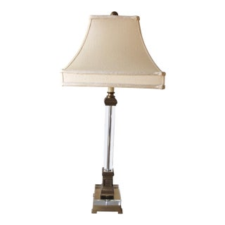 Classic Crystal & Brass Lamp