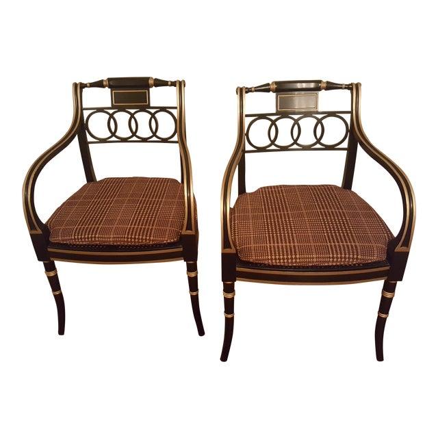 Historic Charleston Governor Alston Chairs - Pair - Image 1 of 5