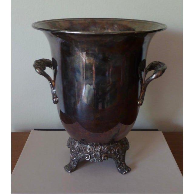 Vintage Silver Plate Champagne Bucket For Sale - Image 9 of 9