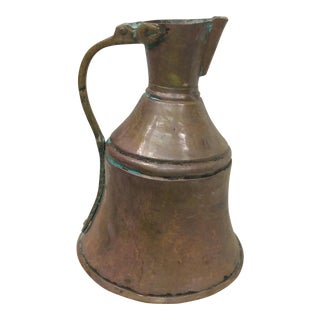 Vintage Handmade Copper Pitcher