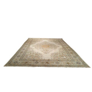 Persian Tabriz Hand Made Knotted Rug - 11'x16' - Size Cat. 10x14 12x15 For Sale