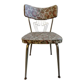 1950s Vintage Floral Print Side Chair For Sale