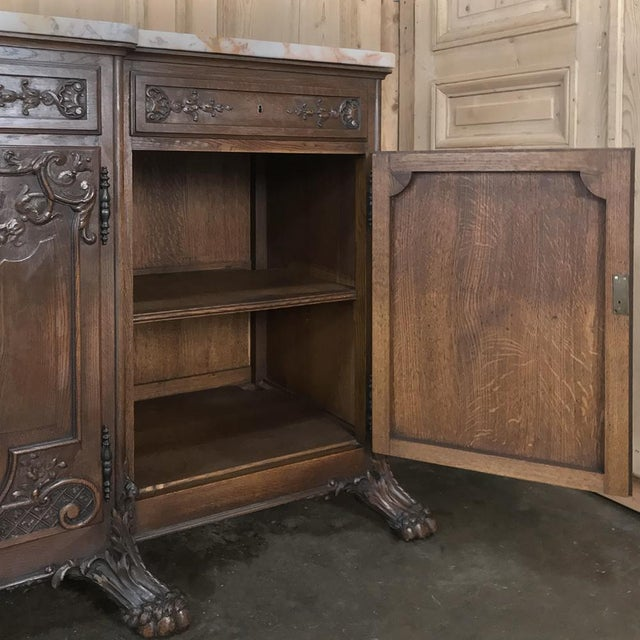 Marble 19th Century French Louis XIV Marble Top Buffet For Sale - Image 7 of 13
