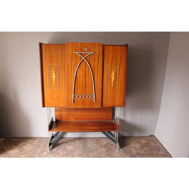 Mid Century Italian Dry Bar Cabinet,Drinks Cabinet, Cocktail Bar For Sale - Image 13 of 13