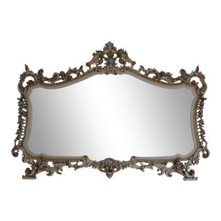 Silik Italian Rococo Style Carved Wall Mirror For Sale