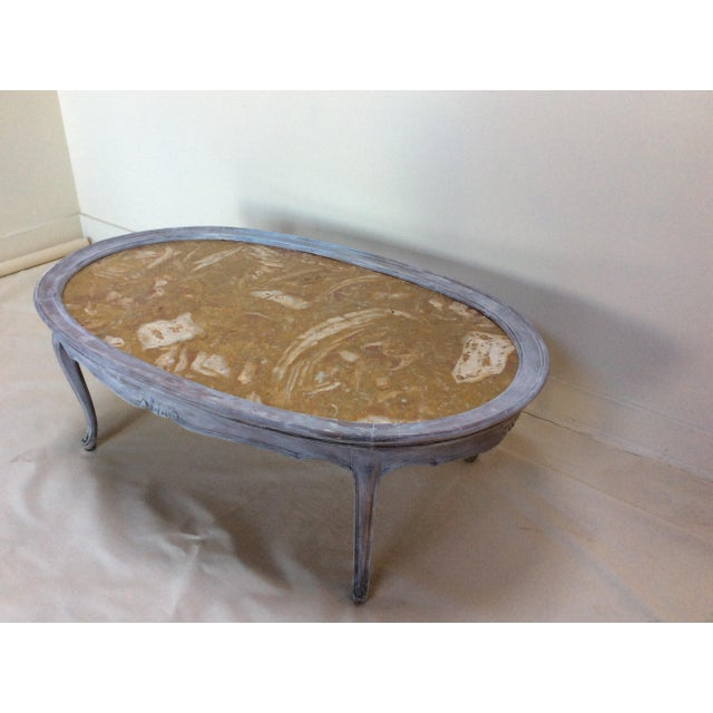 French Marble Top Coffee Table - Image 2 of 6