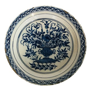 18th Century Antique Delft Plate For Sale