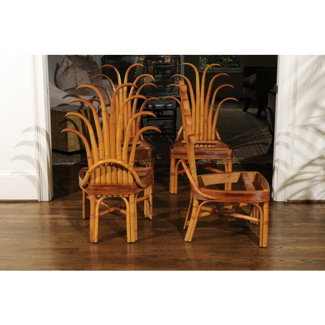 Jaw-Dropping Unique Pair of Custom-Made Palm Frond Chairs, circa 1950 For Sale - Image 12 of 13