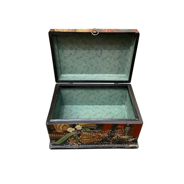 Mid 20th Century Vintage Italian Wood Painted Box For Sale - Image 5 of 6