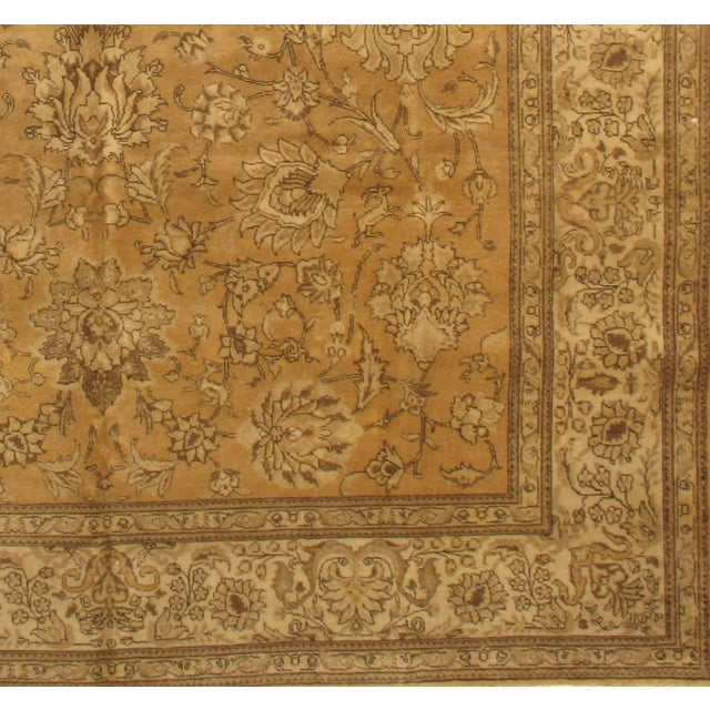 Original Antique Persian Tabriz Handmade and hand-knotted in Tabriz Iran Lamb's Wool on a Cotton Foundation Hand-Spun Wool...