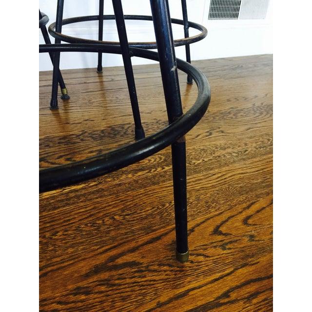 Vintage Rattan Amp Wrought Iron Bar Stools Set Of 4 Chairish