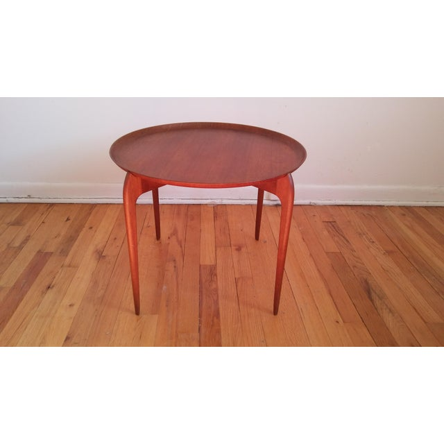 Fritz Hansen Teak Tray Table For Sale In New York - Image 6 of 11