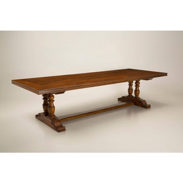 French Inspired Walnut Dining Table For Sale - Image 10 of 11