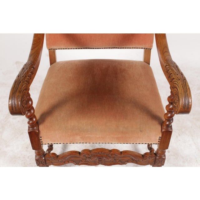 1920s English Baroque Armchair For Sale - Image 10 of 11