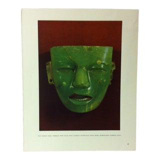 """Circa 1960 """"Onyx Marble Mask"""" Treasures of Ancient America Mounted Print For Sale"""