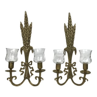 Brass Wall Sconces - A Pair