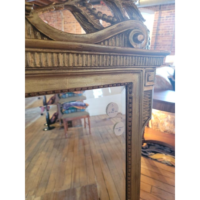 Wood 20th Century French Grand Gilt Mirror From Waldorf Astoria For Sale - Image 7 of 10
