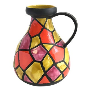 Bitossi Italian Mid Century Pottery Pitcher For Sale