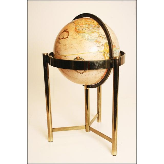 Mid-Century Modern Replogle World Globe W Brass Stand - Image 4 of 11