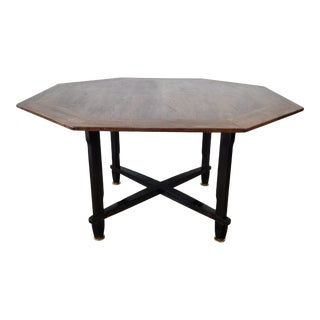 Edward Wormley for Dunbar Octagonal Game Table , Janus Collection For Sale