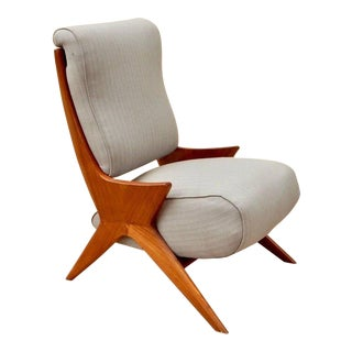 1950s Vintage Argentine Americano Funcional Slipper Chair For Sale