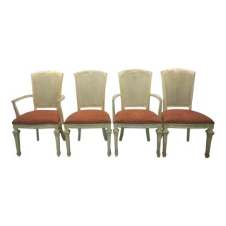 Shabby Chic Farmhouse Style Dining Chairs - Set of 4 For Sale