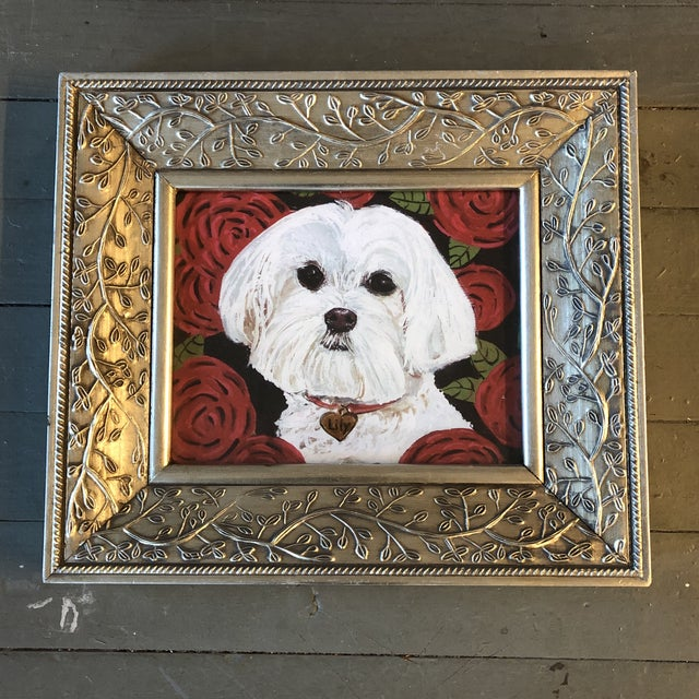 Maltese Dog Print by Contemporary Artist Judy Henn For Sale - Image 4 of 4