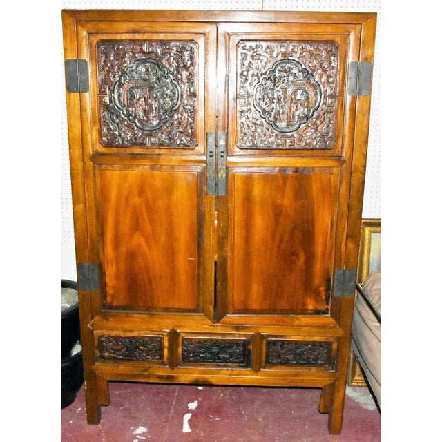 Chinese Armoire Cabinet For Sale - Image 9 of 9