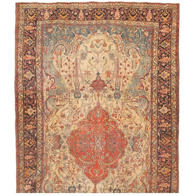 Antique Persian Sarouk Carpet - Image 1 of 1