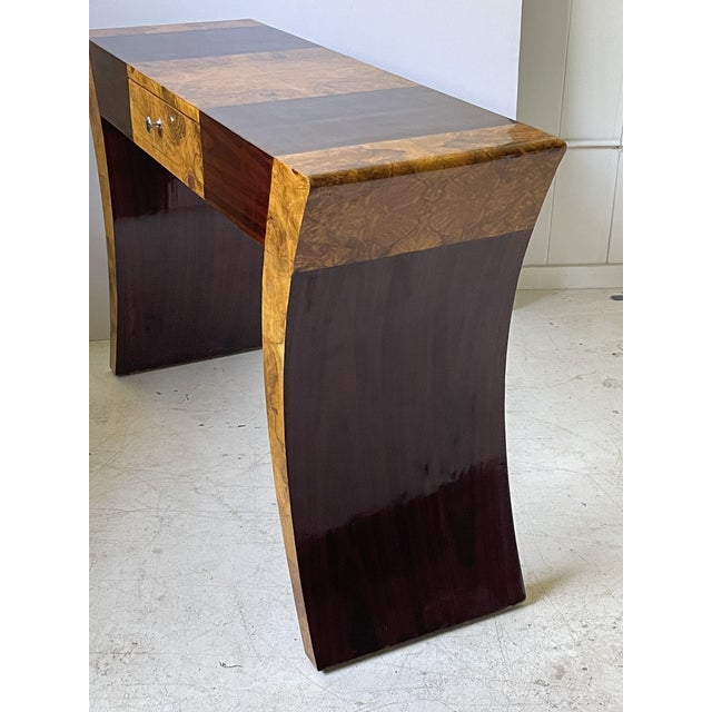 Vintage Italian Rosewood and Burlwood Console or Desk For Sale In Atlanta - Image 6 of 13