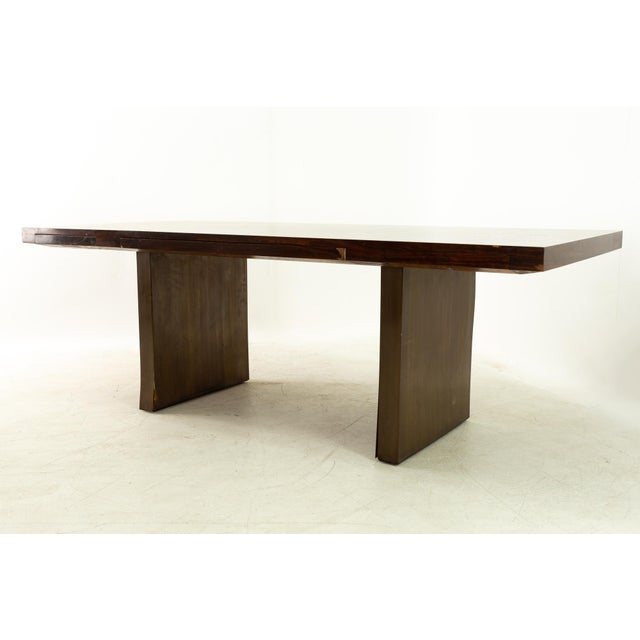 Mid-Century Modern Edward Wormley for Dunbar Mid Century Rosewood and Bronze Executive Desk For Sale - Image 3 of 10