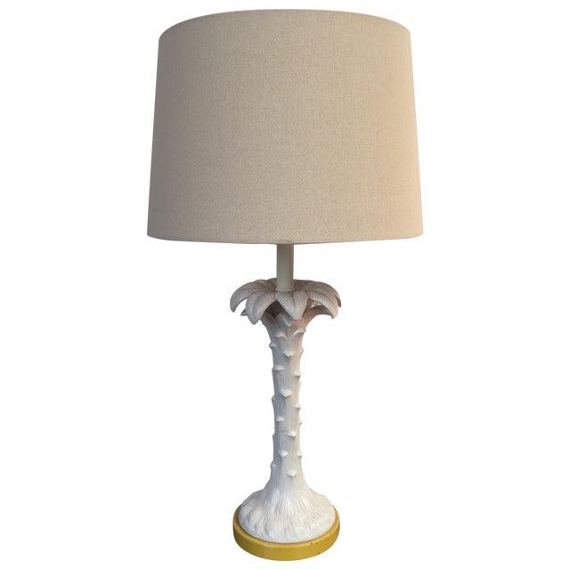 Hollywood Regency White Palm Tree Lamp - Image 1 of 5