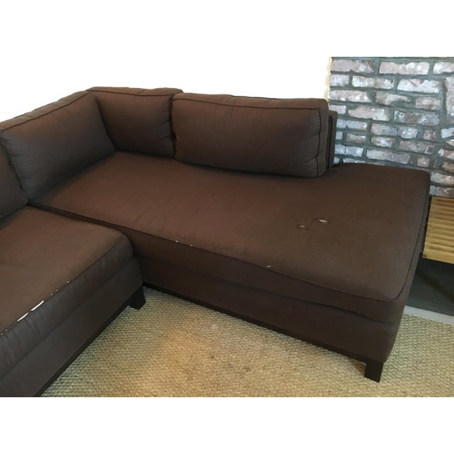 Mitchell Gold + Bob Williams Sectional in Brown Linen/Cotton - Image 5 of 6