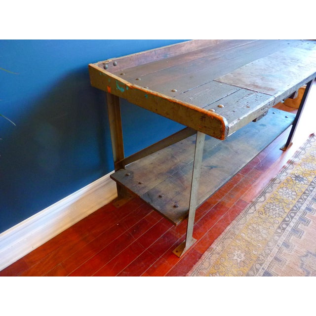 Iron Industrial, Old Welders Workbench For Sale - Image 7 of 13