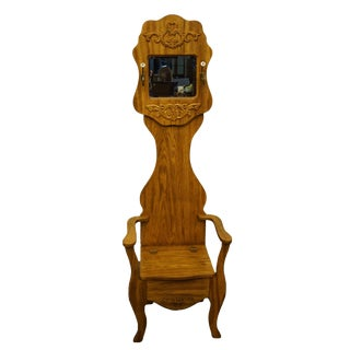 Pulaski Furniture Keepsakes Collection Golden Oak Hall Tree For Sale