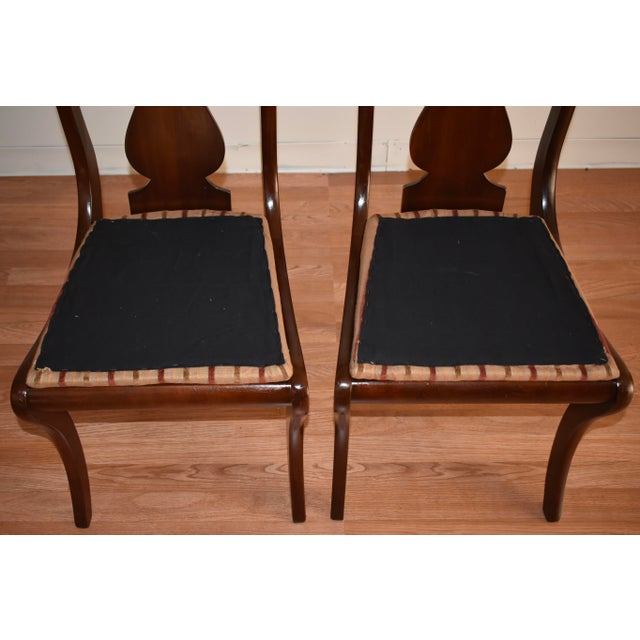 19th Century Antique Empire Solid Mahogany Dining Room Chairs- 6 Pieces For Sale - Image 12 of 13