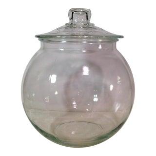Mid-Century Glass Lidded Jar
