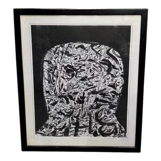 """Mid-Century """"Patriarch"""" Etching on Paper For Sale"""