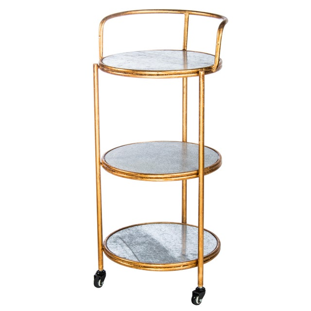 """New Bar cart. Materials: Metal, wood Measurements : 38.5""""h x17.5""""w x18""""d pounds, 17 pounds Seat height: 24"""""""
