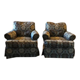 Changeable Luxury Slip Cover Chairs - a Pair For Sale