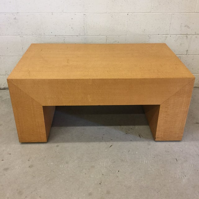 Large Light Wood Rectangular Coffee Table For Sale - Image 11 of 11