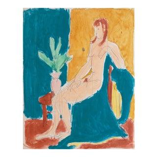 Victor DI Gesu, 'Seated Nude', California Post-Impressionist, Louvre, Lacma, Circa 1955 For Sale