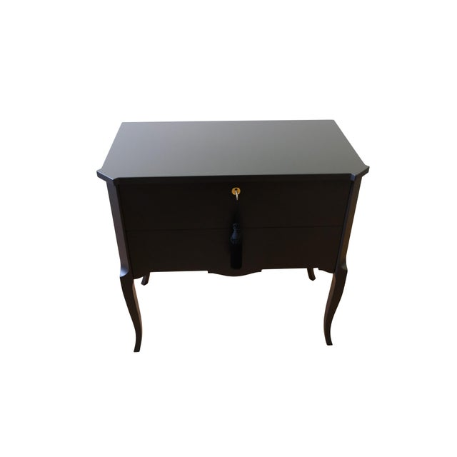 Black 1940s Gustavian Louis XV Style Chests - a Pair For Sale - Image 8 of 12