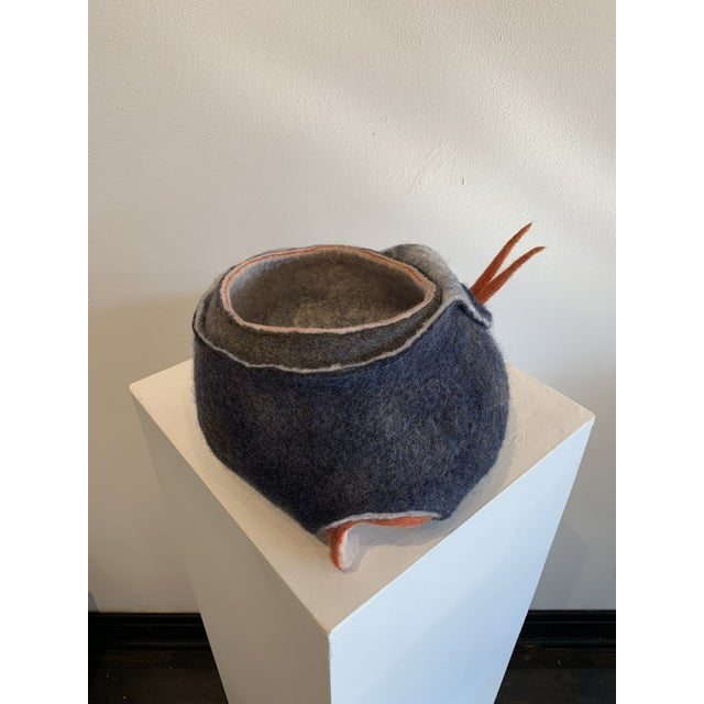 Gray Abstract Wool Felt Sculpture For Sale - Image 8 of 13