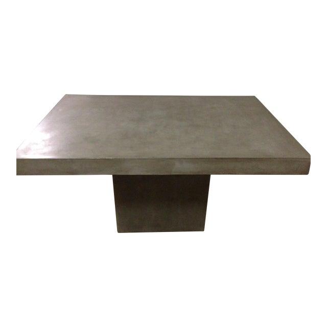 Cb2 Fuze Concrete Dining Table Chairish